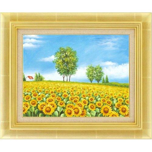 向日葵の丘の絵画